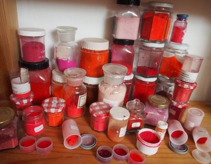 L'étagère des pigments rouges