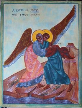 La lutte de Jacob avec l'ange, 24,4x32cm, 2016